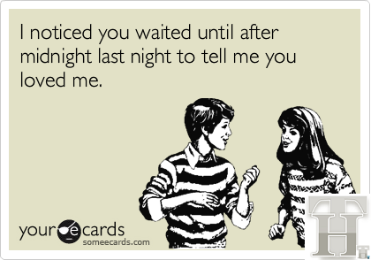I noticed you waited