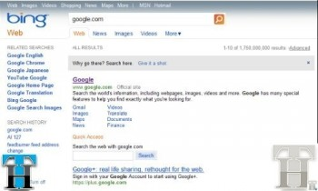 Bing says don't go to Google