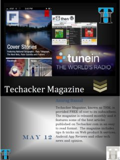 Techacker Magazine (THM) – May 2012 Edition is out! Get it here.