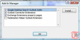 Outlook Add in Manager