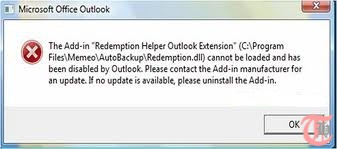 Redemption Helper Error Message