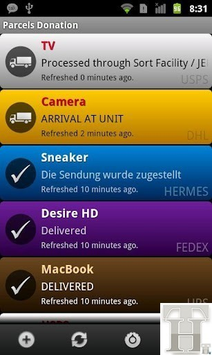 How to simply track any package on Android