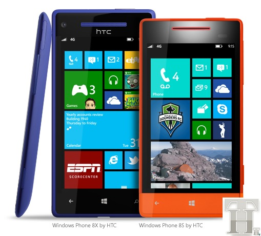 Windows Phone 8X and 8S by HTC