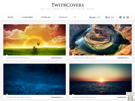 Get beautiful Twitter covers for your new Twitter profile