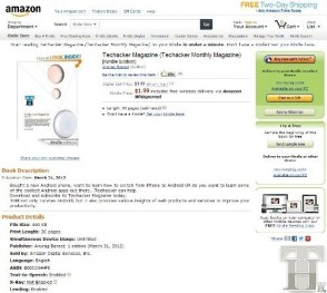 Read Techacker magazine on Amazon kindle too now