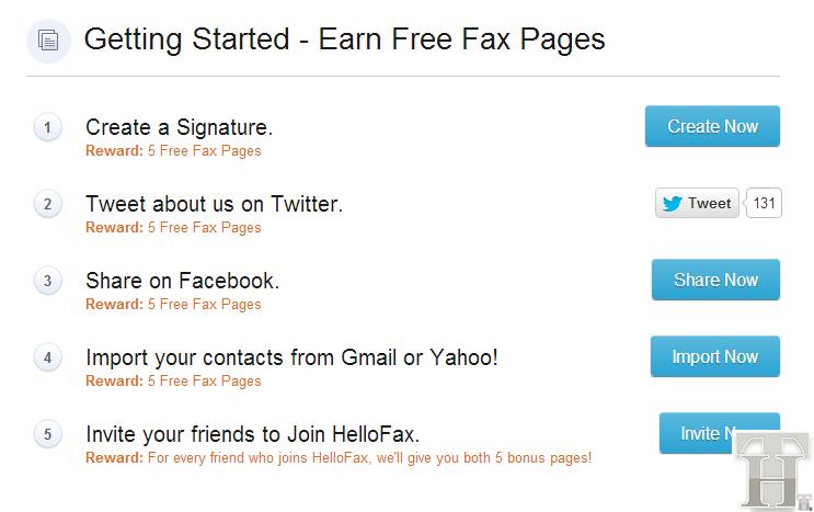 Hellofax Bonus Page