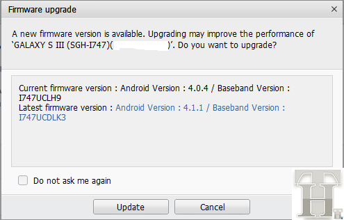 Jelly Bean - Firmware Upgrade Notification