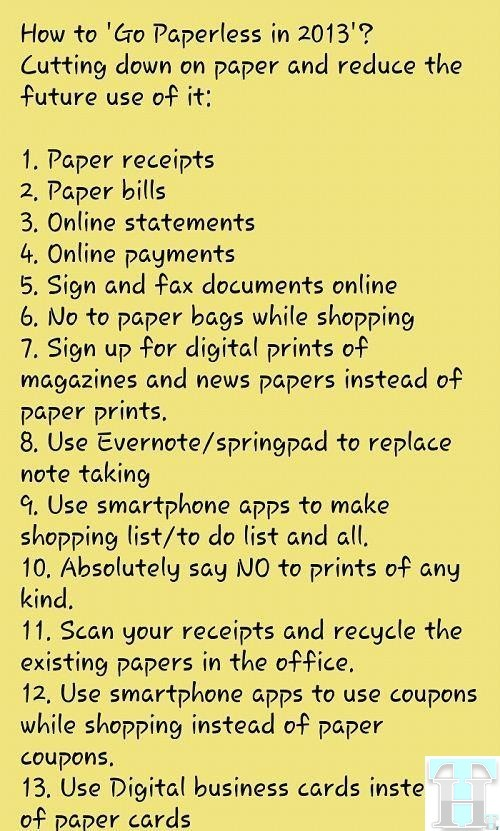 Go Paperless in 2013
