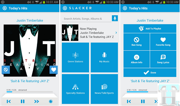 New Slacker Radio Android App