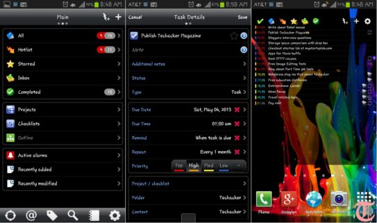 The Best Android App for Toodledo that is easy, functional and feature rich