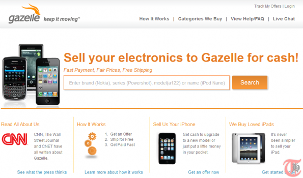 Gazelle - Sell or recycle used electronics