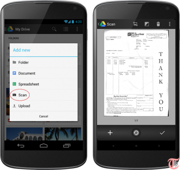 Google Drive Scan Documents