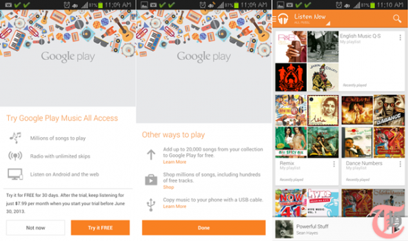 Google Music 2013 - Android