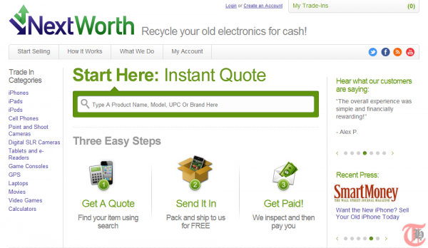 NextWorth - Sell or recycle used electronics