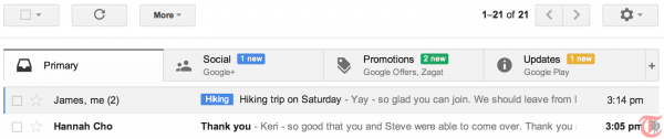 New GMail brings better categorization and easy organization