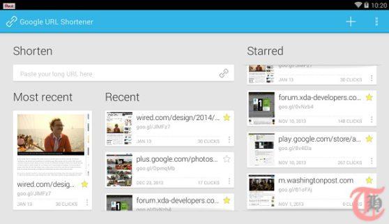 Use Goo.gl URL Shortener Android app to share long links