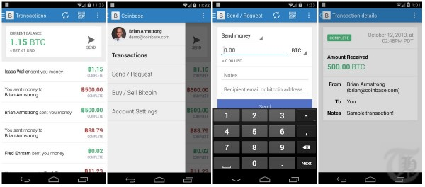 Bitcoin Wallet Android App Screenshots