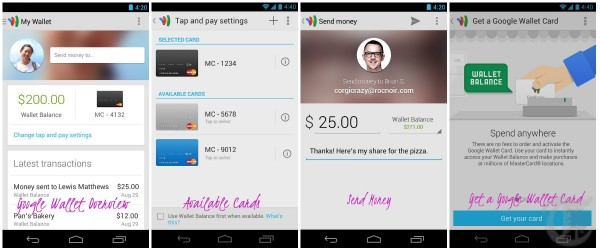 Google Wallet App Screenshots