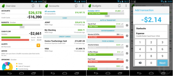 Mint - Android App Screenshots