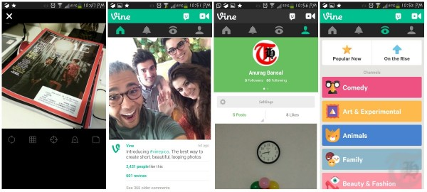 Vine Android App Screenshots