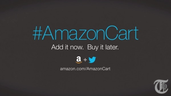 Shop on Amazon using Twitter with hashtag #AmazonCart