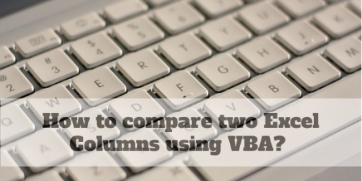 How to easily compare two Excel Columns