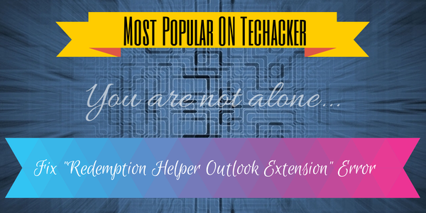 Fix Redemption Helper Outlook Extension Error