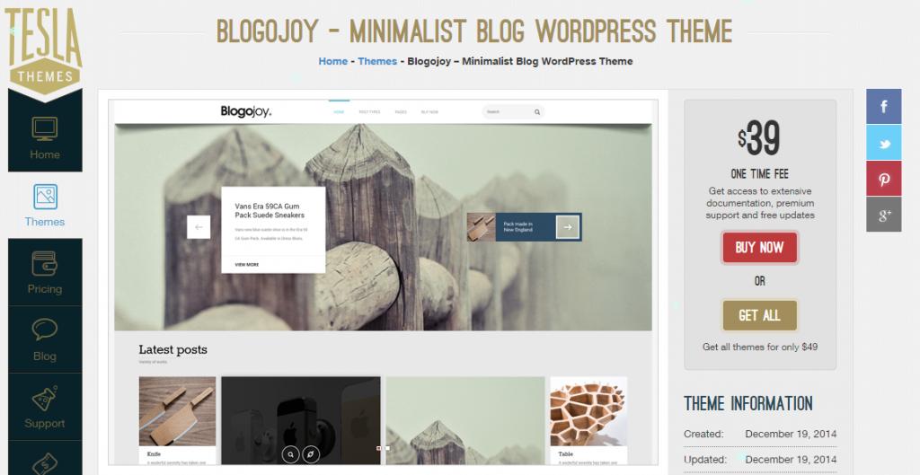 Blogojoy – A new blog theme from TeslaThemes