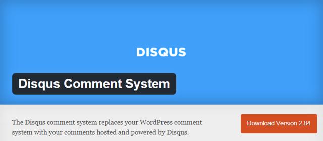 DISQUS Comment System Screenshot