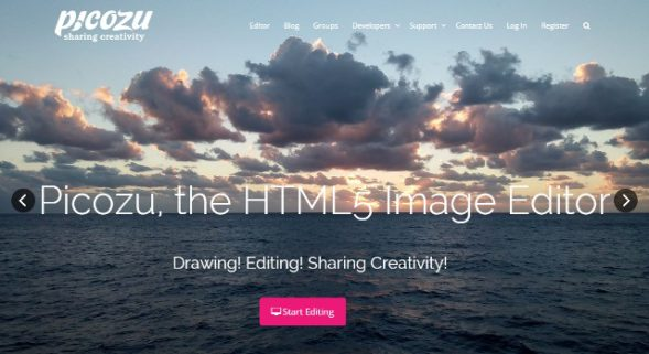 Picozu : an HTML5 based Free Photoshop alternative