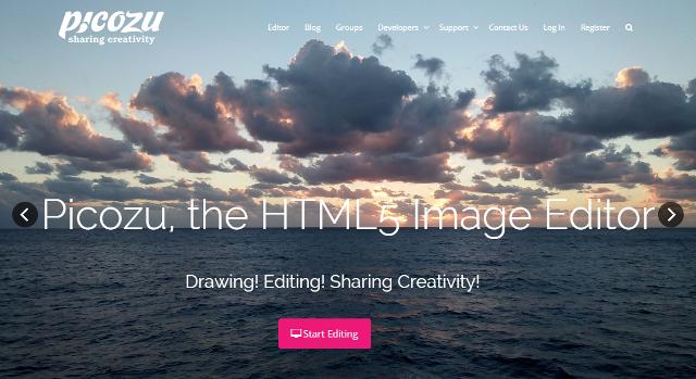 Picozu : an HTML5 based Free Photoshop alternative