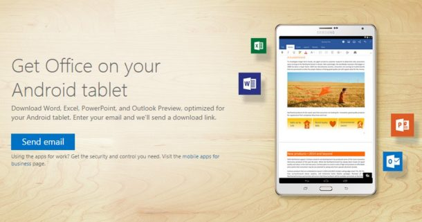 Microsoft releases Office for Android tablets