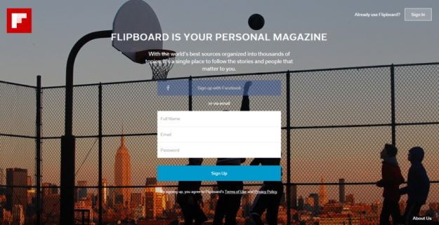 Flipboard uses QR Code for easy web sign-in