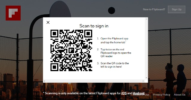 Scan QR Code to Sign-in