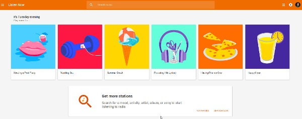 Google Play Music Radio - Custom Stations