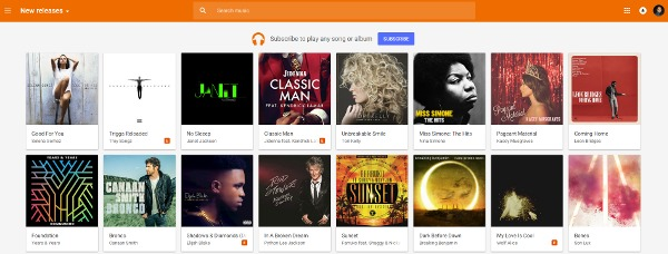 Google Play Music - New Releases