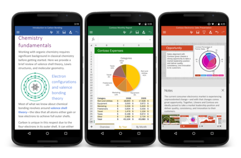 Microsoft Office for Android phones is now available