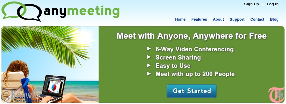 Free alternative to WebEx, GoToMeeting and others - AnyMeeting